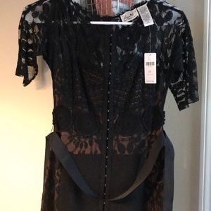 Anthropologie - Beautiful black lace dress